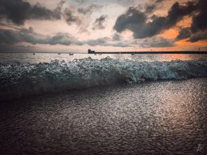 Evening Baltic tiny waves